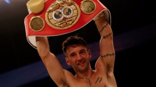 Boxer Lee Haskins withdraws from title defence with leg injury