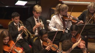 Students from Bristol Cathedral School performing Christmas carols like you've never seen before.