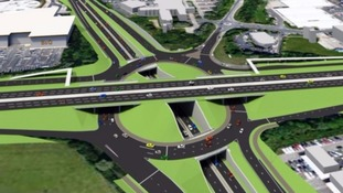 Artists impression of the new triple decker roundabout.