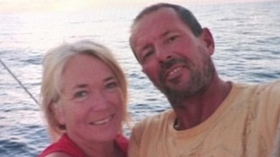 Photo of Stephen Jones and his partner Tanya Davies