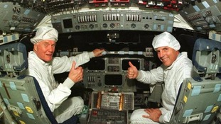 Glenn returned to space in 1998 aged 77