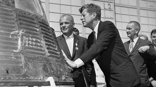 John Glenn with President John F. Kennedy