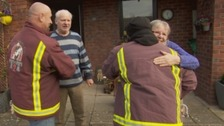 Flood heroes return to Cumbria one year later