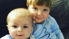 Archie-Joe Darby and Daniel Jay Darby who were attacked by a dog earlier this year.