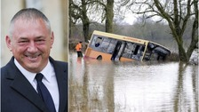 School bus driver jailed for driving into floodwater