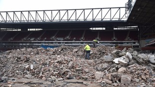 West Ham's former home disappears as bulldozers reduce ground to rubble