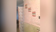 Couple come home to house covered in Christmas wrapping