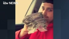 Watch: Drug dealers show off wads of cash