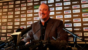 Rafa Benitez at Newcastle United's press conference