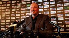 Rafa Benitez at Newcastle United's press conference