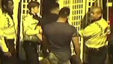 Thug jailed for punching policeman in the face, caught on CCTV
