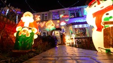 Couple get hate mail for 'extravagant' festive lights