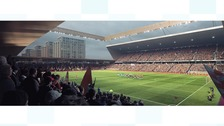 An artist's impression of the proposed new ground for Luton Town Football Club