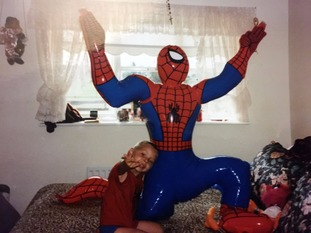 Arthur was life-long fan of superheroes such as Spiderman