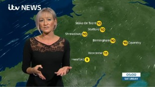 West Midlands Weather: Patchy rain and hill fog