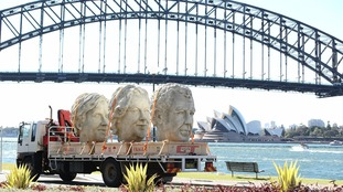 Jeremy Clarkson and co-stars' statues take their own Grand Tour through US and Sydney