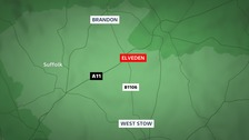 A woman in her 70s has died following a crash at Elveden in Suffolk this afternoon.