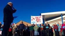Rally over future of Minor Injuries Units (MIU)