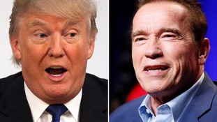 Donald Trump and Arnold Schwarzenegger.