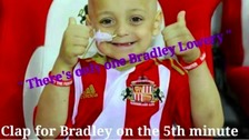 Newcastle fans support Sunderland fan Bradley
