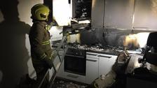 Fire service tackle kitchen blaze in St Helier