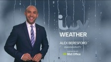 Weather: A lot drier tonight as rain clears