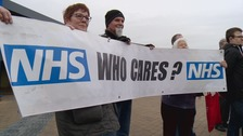 3rd protest over planned closures of A&E units