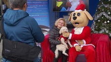It's not just children who are visiting Santa this Christmas