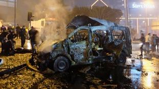 Twin blasts kill 38 people outside Istanbul football stadium