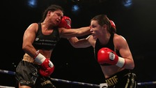 Katie Taylor beat Viviane Obenauf in their Super-Featherweight bout at the Manchester Arena.