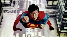 "Actor Christopher Reeve, most noted for his role as ""Superman"" is shown in a scene."
