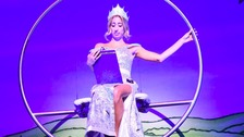 Oh no she didn't! Stacey Solomon criticised for reading panto script on stage
