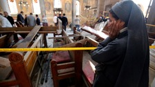 At least 25 killed in Coptic cathedral bombing in Cairo