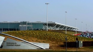 The man was arrested at Stansted airport