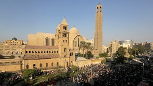 The blast took place at Cairo's main Coptic cathedral.
