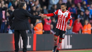 Sofiane Boufal celebrates his first Premier League goal for Southampton
