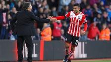 Sofiane Boufal celebrates his first Premier League goal for Southampton