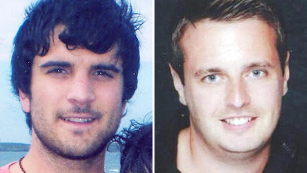 James Kouzaris, 24, (left) and James Cooper, 25