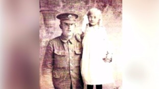 Private Richard Yeo pictured with his niece.