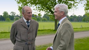 When Philip met Prince Philip: Duke of Edinburgh pokes fun at Schofield over charity challenge