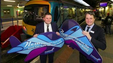 (L) Adam Jupp, Head of External Relations, Manchester Airport Group (R) Leo Goodwin, Managing Director TransPennine Express