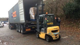11 tons of aid bound for Syria from Cornwall