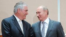 Rex Tillerson and Vladimir Putin
