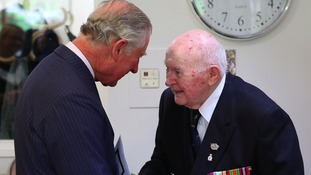 John Moffat meeting the Prince of Wales earlier this year