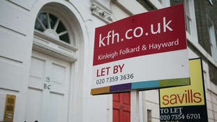 .Letting signs on display outside properties in South Kensington