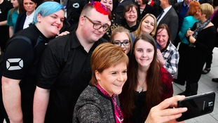 Nicola Sturgeon with students at Ayrshire College