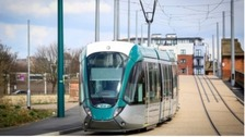 There are long delays on the tram line after an accident at Bulwell