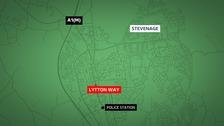 A man, 19, has died in a car crash in Stevenage.