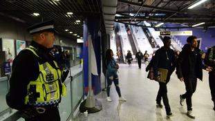 Police on patrol in London.