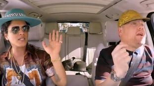 Bruno Mars does Elvis impression in latest Carpool Karaoke